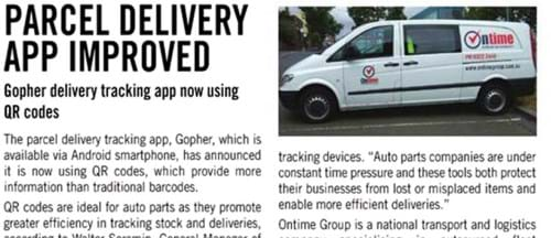 Parcel delivery tracking app now using QR codes _ Food  Beverage thumbnail