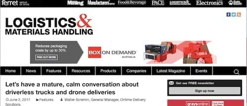 Driverless delivery trucks & drones