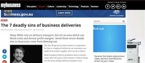 The seven deadly sins of business deliveries