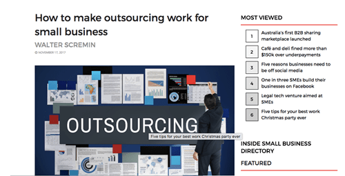How to make outsourcing work for small business