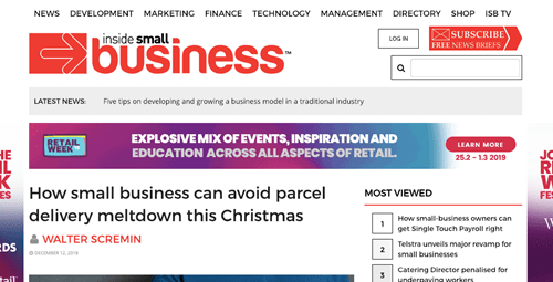 How small business can avoid parcel delivery meltdown this Christmas