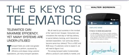 The five keys to telematics